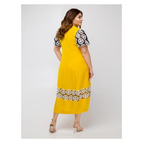 Платье Селеста кружево 52 Желтый