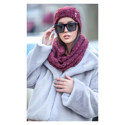 Комплект Irmana №227 букле шапка+ шарф-хомут универсал Марсала