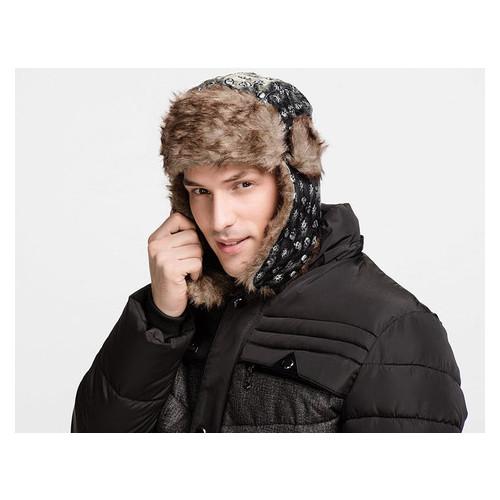 Стильная зимняя шапка ушанка Унисекс (ОМ-021)