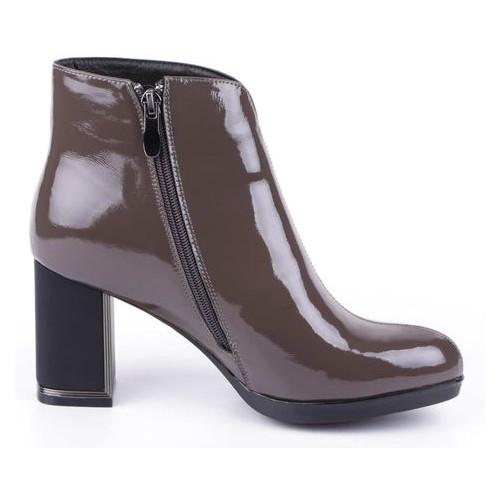 Женские ботинки на каблуке Blue Tempt 195090, Коричневый, 36, 2999860289022