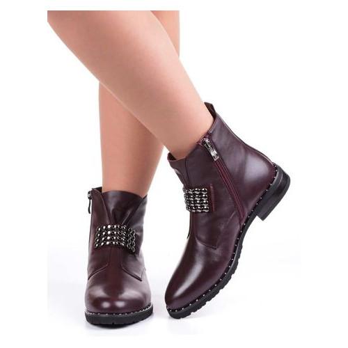 Женские ботинки на низком ходу Geronea 19801, Бордовый, 39, 2999860270624