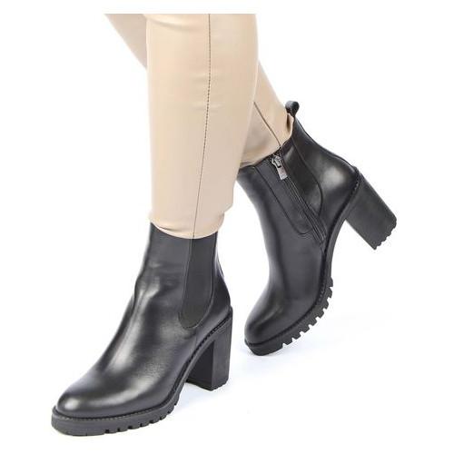 Женские ботинки на каблуке Mario Muzi 718018, Черный, 40, 2999860348040