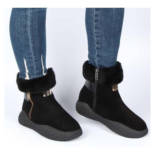 Женские зимние ботинки на низком ходу Pera Donna 195607, Черный, 37, 2999860352139