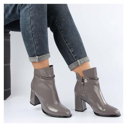 Женские ботинки на каблуке buts 195924, Серый, 36, 2999860378740