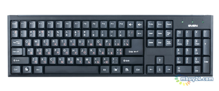 Клавиатура Sven 303 Standard Black USB
