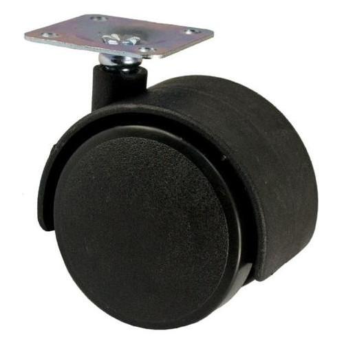 Опора колесная FZB 40 мм без фиксатора черная (3-019-003)