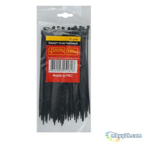 Хомут пластиковый 2,5x150мм, (100 шт/упак), черный Intertool TC-2516
