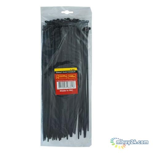 Хомут пластиковый 4,8x400мм, (100 шт/упак), черный Intertool TC-4841