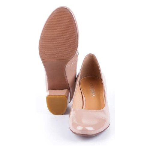 Женские туфли на каблуке Geronea 195062, Бежевый, 39, 2999860286151