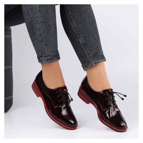 Женские туфли на низком ходу buts 195870, Бордовый, 38, 2999860374292