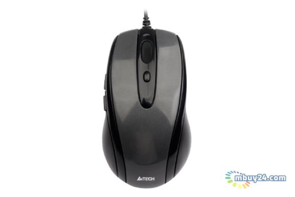 Мышь проводная A4 N-708X Glossy grey V-Track USB