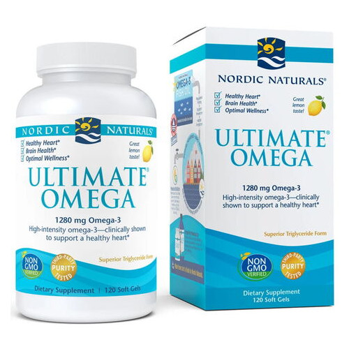 Жирные кислоты Nordic Naturals Ultimate Omega 120 капсул лимон