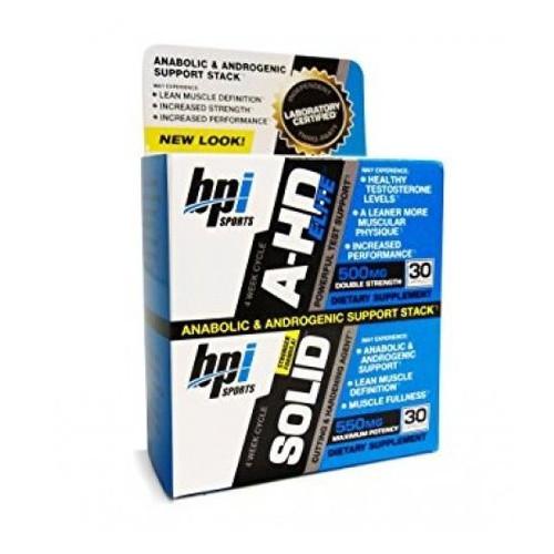 Тестостероновый бустер BPI Sports A-HD/SOLID COMBO FULL STACK_Box