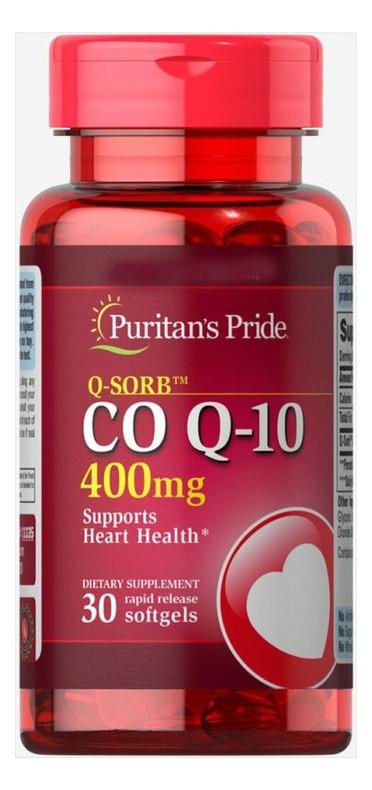 Специальный продукт Puritans Pride Q-SORB Co Q-10 400 mg 30 капсул (4384301523)