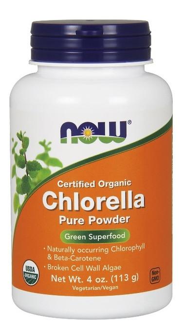 Специальный продукт NOW Chlorella Powder Organic 113 г Без вкуса (4384301187)