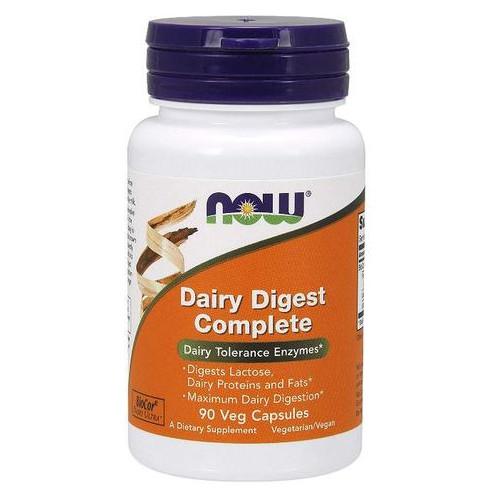 Специальный продукт NOW Dairy Digest Complete Veg Capsules 90 капсул (4384301193)
