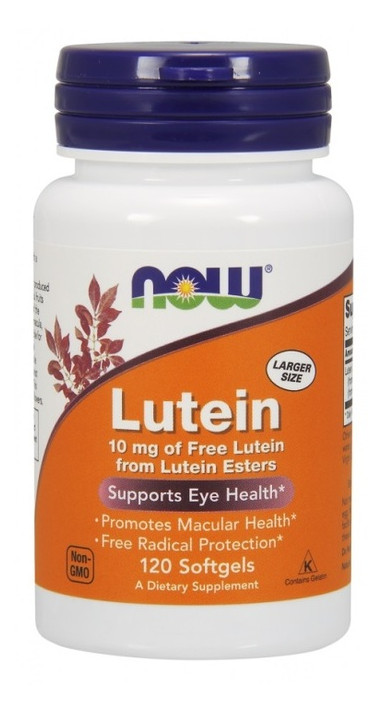 Специальный продукт NOW Lutein 10 mg Softgels 120 капсул (4384301214)