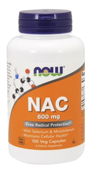 Специальный продукт NOW NAC 600 mg Veg Capsules 100 капсул (4384301218)
