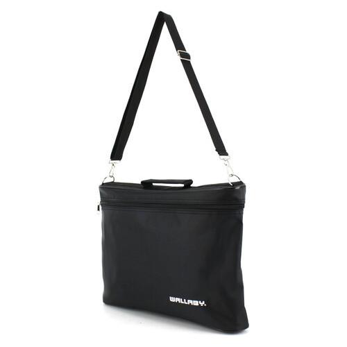 Конференц сумка для документов, газетница Wallaby 2721 черная