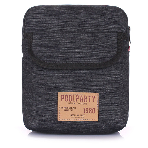 Мужская сумка на плечо Poolparty Черный (extreme-denim)