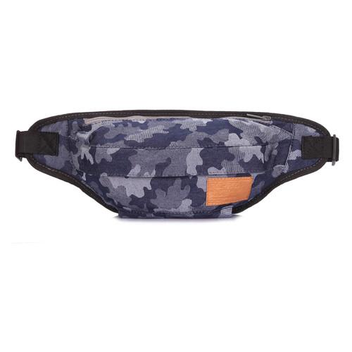 Джинсовая камуфляжная сумка на пояс Poolparty Bumbag Синий (bumbag-camouflage)