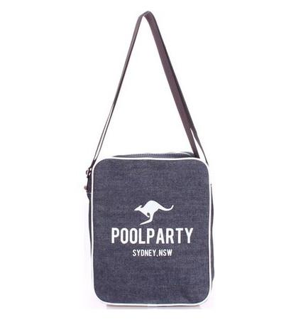 Джинсовая сумка POOLPARTY с ремнем (pool-18-jeans)