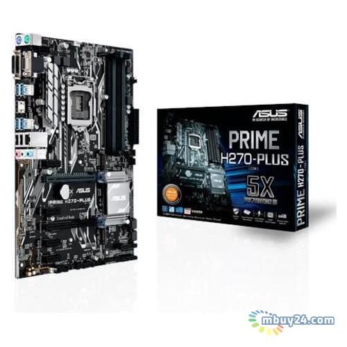 Материнcкая плата Asus Prime H270-Plus H270 4DDR4 HDMI-DVI-VGA M.2 Socket3 ATX