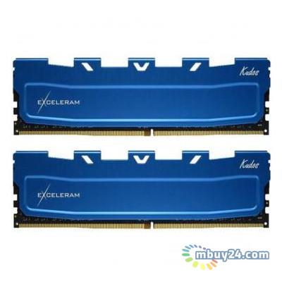 Модуль памяти для компьютера eXceleram DDR4 16GB (2x8GB) 2666 MHz Kudos Blue (EKBLUE4162619AD)