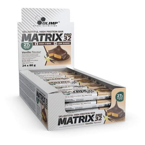 Батончики Olimp Matrix Pro 32 24*80 грамм ваниль