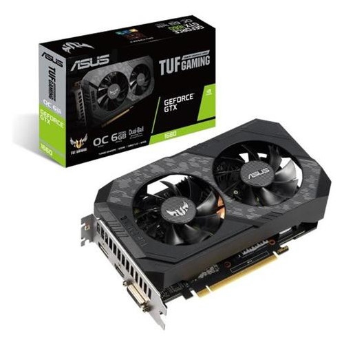 Видеокарта Asus GeForce GTX 1660 6GB GDDR5 TUF Gaming OC (TUF-GTX1660-O6G/TUF-GTX1660-O6G-GAMING)