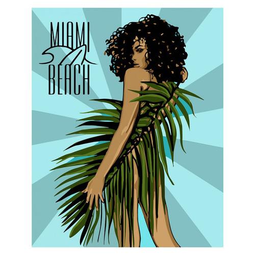 Картина по номерам Идейка Miami Beach 40х50 см (KHO4699)