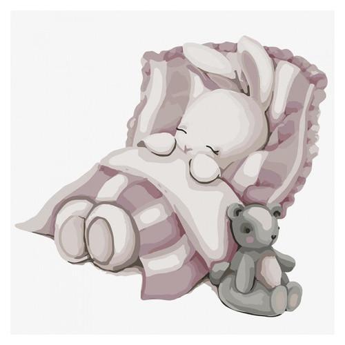 Картина по номерам Идейка Спокойной ночи, зайка 30х30 см (KHO2339)