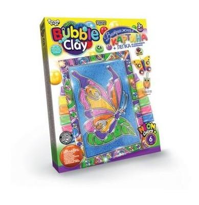 Витражная картина Danko Toys Bubble Clay Бабочка (рус) (BBC-02-05)