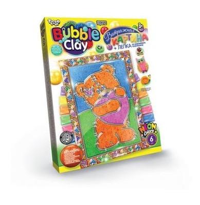Витражная картина Danko Toys Bubble Clay Мишка (рус) (BBC-02-04)