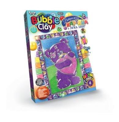 Витражная картина Danko Toys Bubble Clay Мишка (BBC-02-04U)
