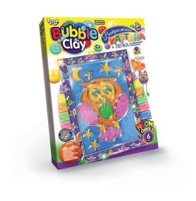 Витражная картина Danko Toys Bubble Clay Сова (рус) (BBC-02-02)
