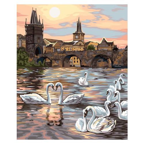 Картина по номерам Danko Toys Лебеди Праги 40х50 см (KpN-01-04U)