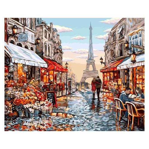 Картина по номерам Danko Toys Цветочный магазин Парижа 40х50 см (KpN-01-09U)