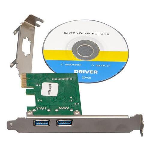 Контроллер Frime NEC720202 (ECF-PCIEtoUSB004.LP) PCI-E-2xUSB3.0