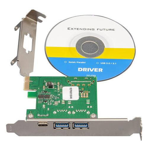 Контроллер Frime NEC720202 (ECF-PCIEtoUSB007.LP) PCI-E-2xUSB3.0+USB3.0 Type-C