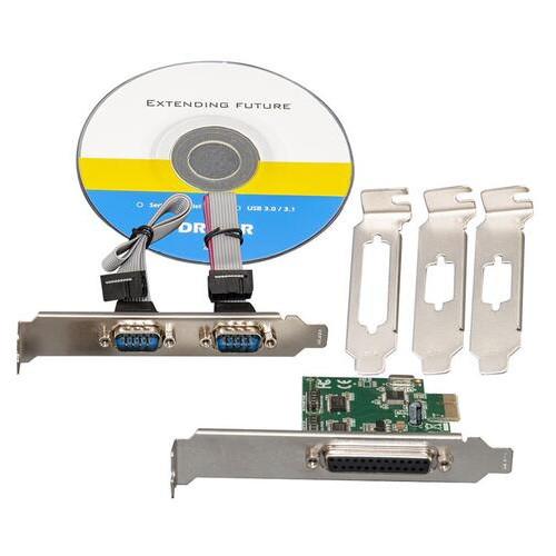 Контроллер Frime WCH382L (ECF-PCIto2S1PWCH382.LP) PCI-E-1xRS232+1xLTP