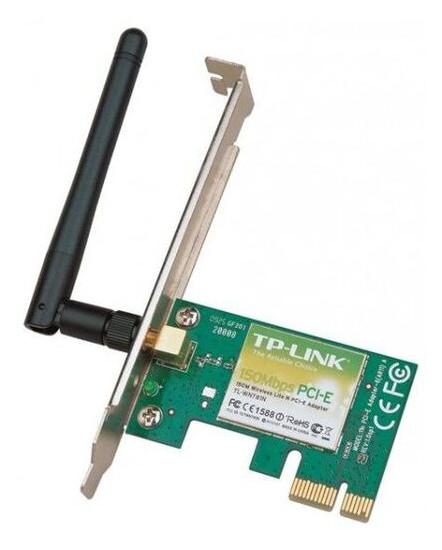 Сетевая карта PCI-E TP-LINK TL-WN781ND Wi-Fi 802.11g/n 150Mb, 1 съемная антенна