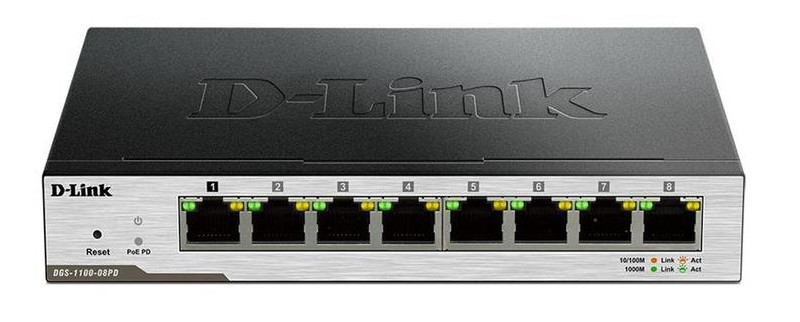 Коммутатор D-Link DGS-1100-08PD EasySmart