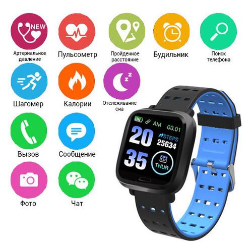 Фитнес браслет A6 дисплей 1.44 фитнес-трекер тонометр smart (1289174923)