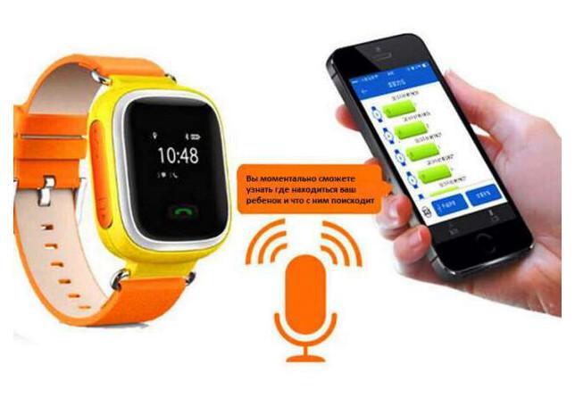 Детские умные GPS часы Smart Baby Watch Q100 Оранжевые