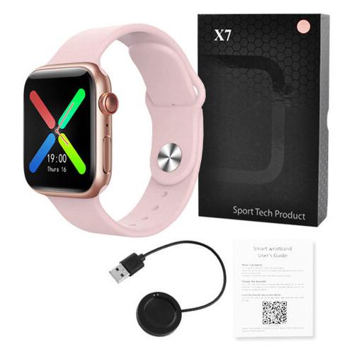 Фитнес-браслет Lemfo X7 IP67 розовый (1328958619)