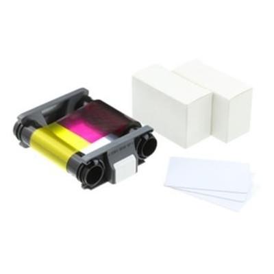Комплект расходных материалов для принтера Badgy 100/200, цветная лента + 100 карточек 0.76 мм (CBGP0001C)