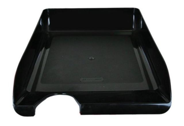 Лоток для бумаг Buromax горизонтальный, черный (BM.6000-01)