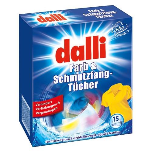 Абсорбирующие салфетки для всех типов тканей Dalli Farb & Schmutzfangtucher (15 штук) (4012400521005)