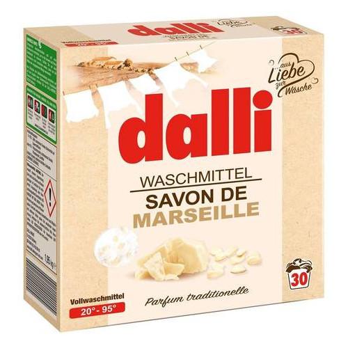Порошок для стирки Dalli Waschmittel Savon De Marseille со стружкой марсельского мыла, 1.95 л (30 стирок) 520169